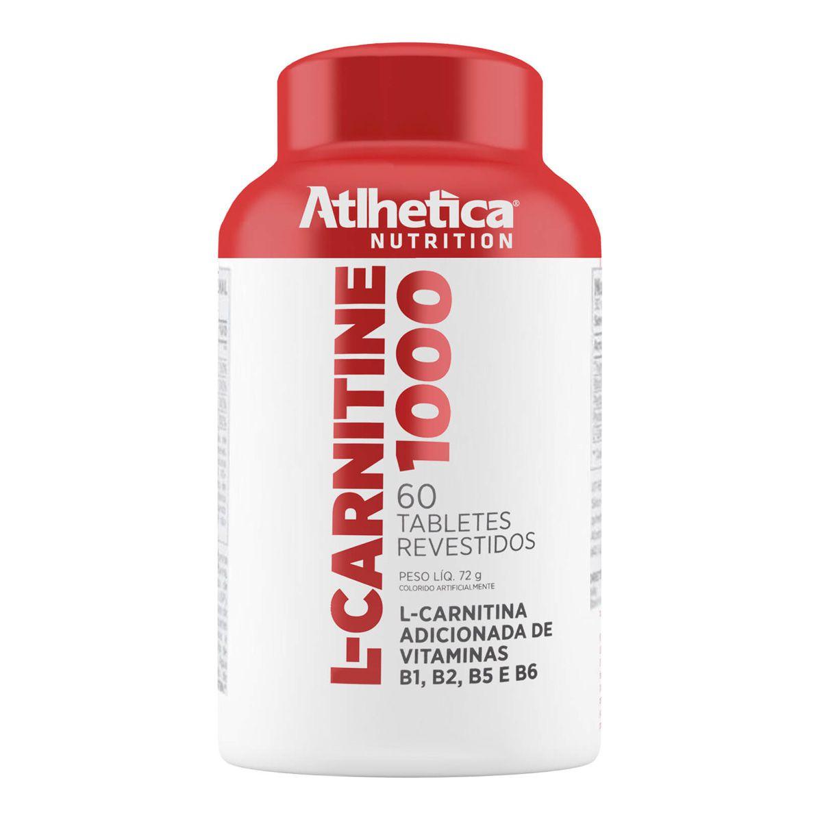 L-Carnitine 1000 - 60 Cápsulas - Atlhetica