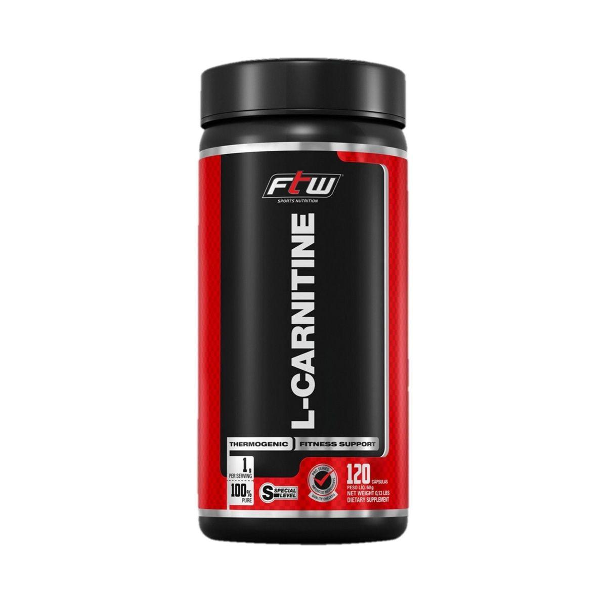 L-Carnitine - 120 Cápsulas - FTW