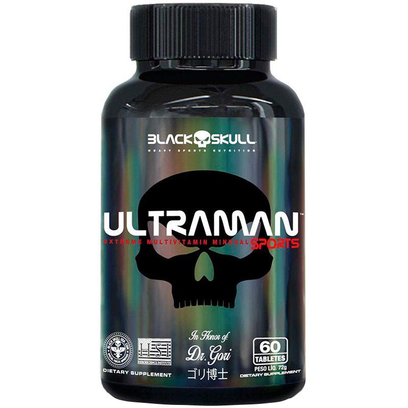 Multivitamínico Ultraman 60 Tabletes - Black Skull