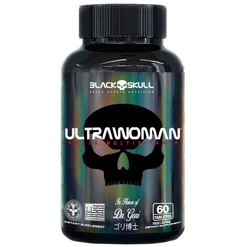 Multivitamínico Ultrawoman 60 Tabletes - Black Skull