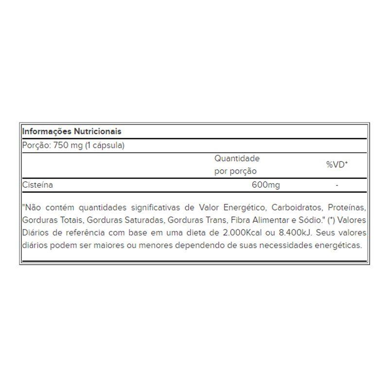 NAC - 60 Cápsulas - Atlhetica Nutrition