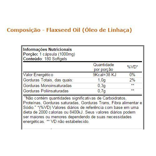 Óleo de Linhaça 100 cápsulas - Vitamin Life