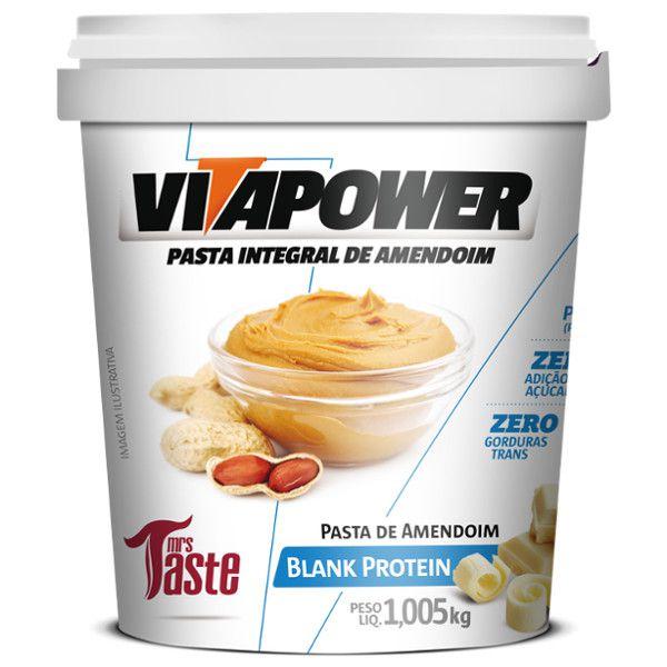 Pasta de Amendoim - Chocolate Branco - 1 kg - Vitapower