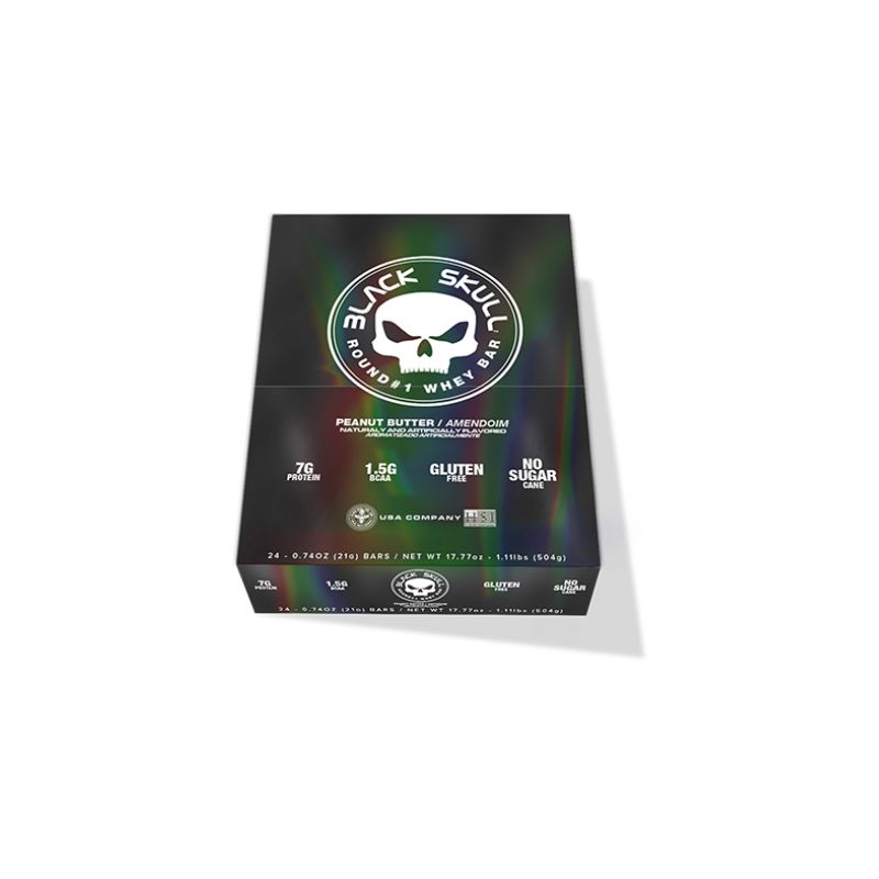 Round Whey Bar - 24 Unidades -  Black Skull
