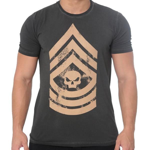 T-Shirt Military - Cinza - Black Skull