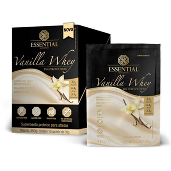 Vanilla Whey 15 saches/30g - Essential Nutrition