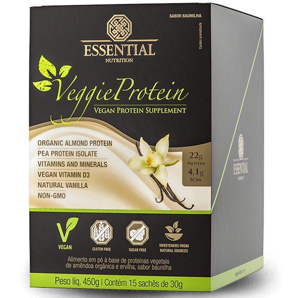 Veggie Protein Baunilha Box - 15 unidades - Essential Nutrition