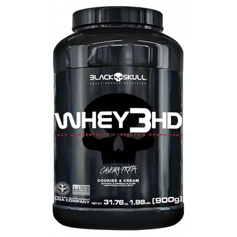 Whey 3HD 900g - Black Skull