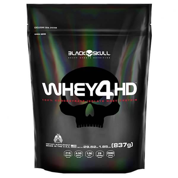 Whey 4HD 837 g Refil - Black Skull
