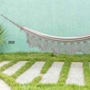 Rede de Dormir Casal Jeans Grafite Resistente