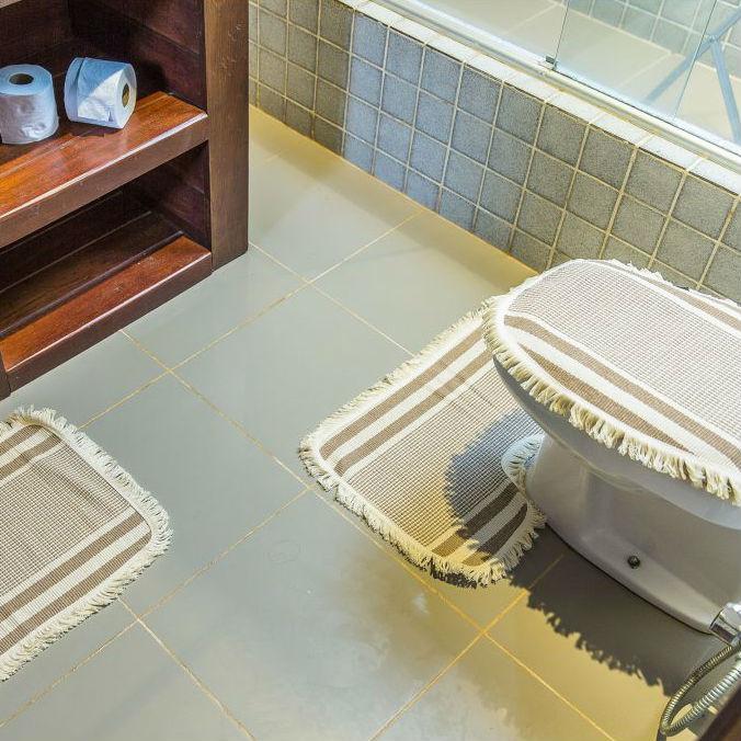 Conjunto de Tapetes para Banheiro 3 peças Artesanal