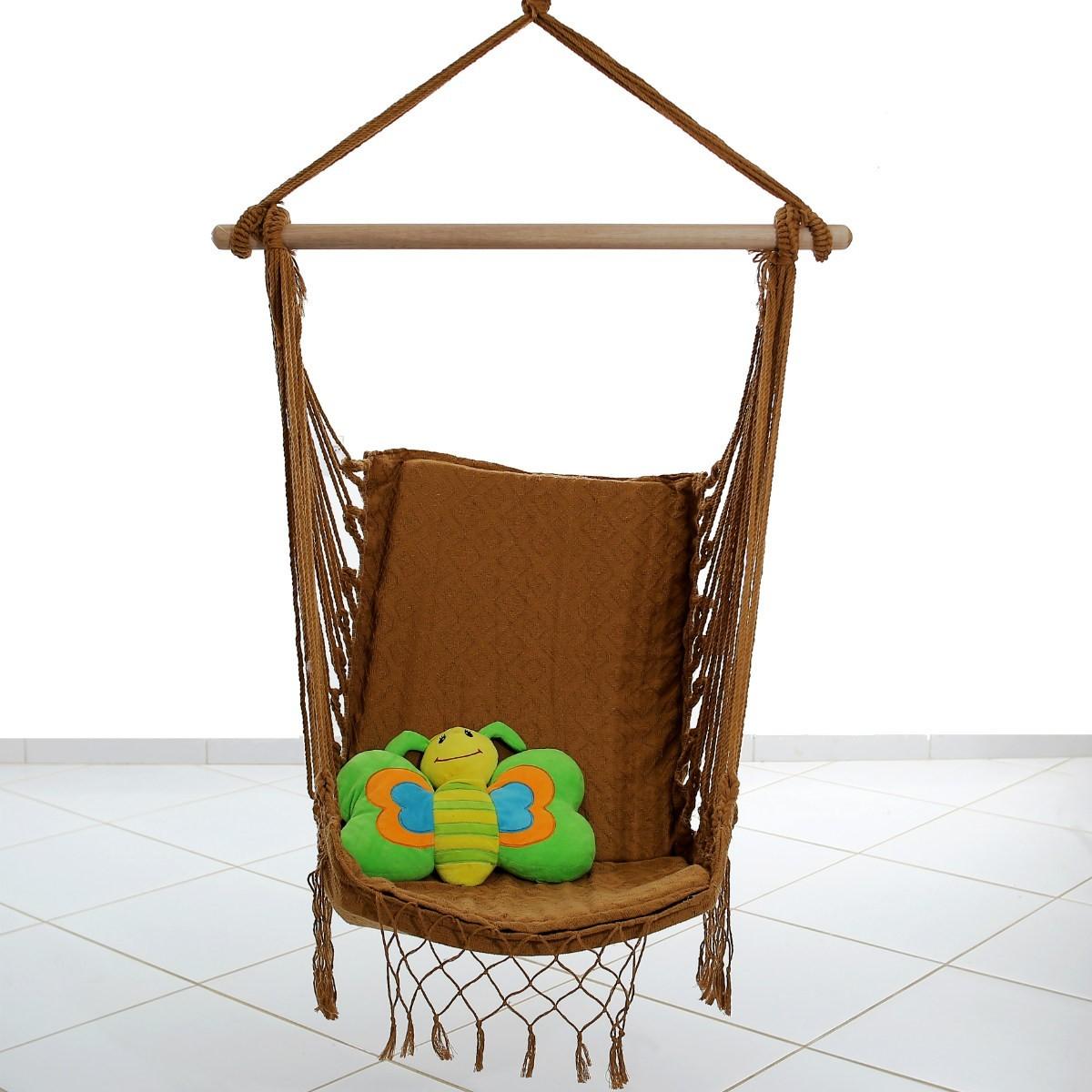 Rede Cadeira Balanço Losango Caramelo