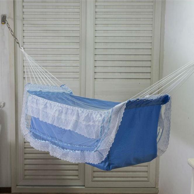 Rede Berço para Bebê Azul