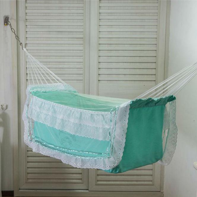 Rede Berço para Bebê Verde