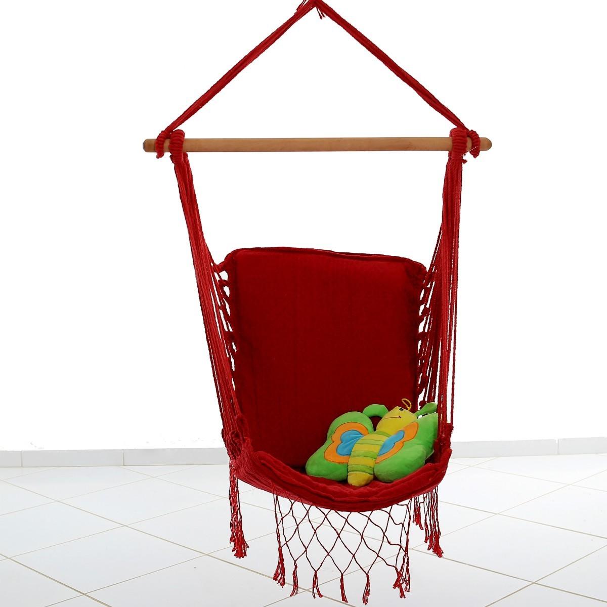 Rede Cadeira Balanço Vermelho