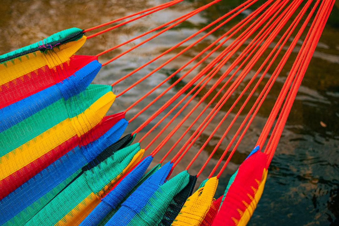 Rede de Dormir Náilon Amazonas Colorida impermeável