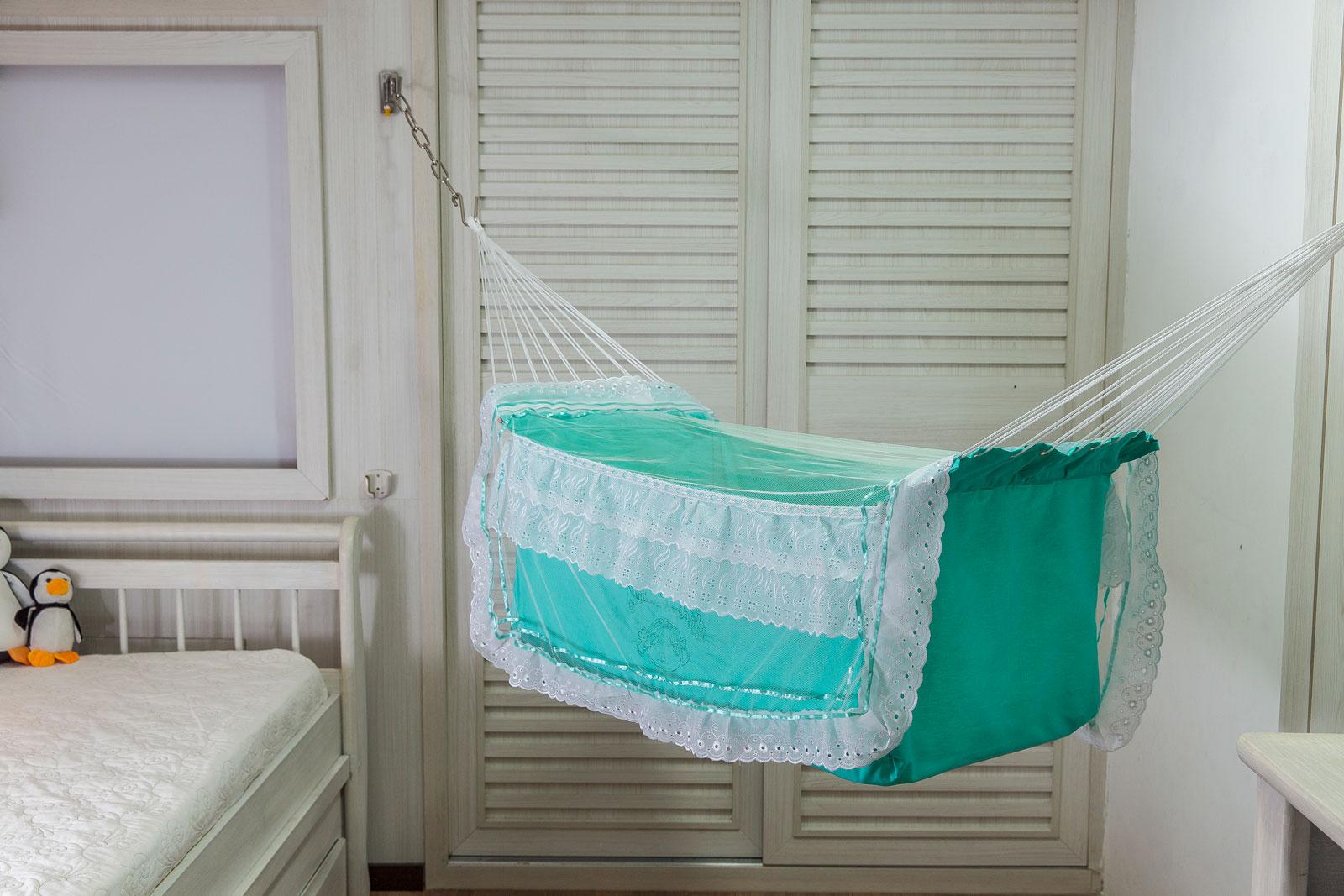 Rede de Dormir Berço infantil para Bebê Verde