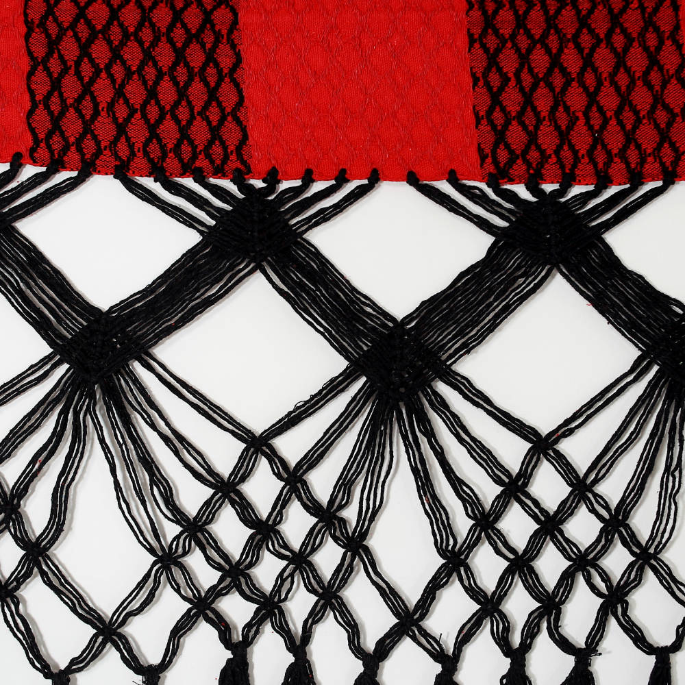 Rede de Dormir Casal Comeia Vermelha com preto