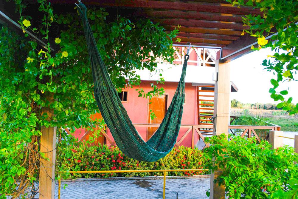 Rede de Dormir Descanso Trançada Algodão Verde Luxo