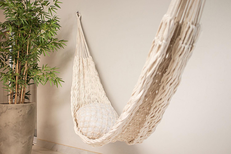 Rede de Dormir Descanso Trançada Natural Luxo