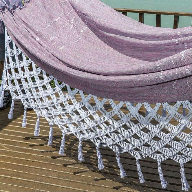 Rede de Dormir Luxo Mesclada Lilás