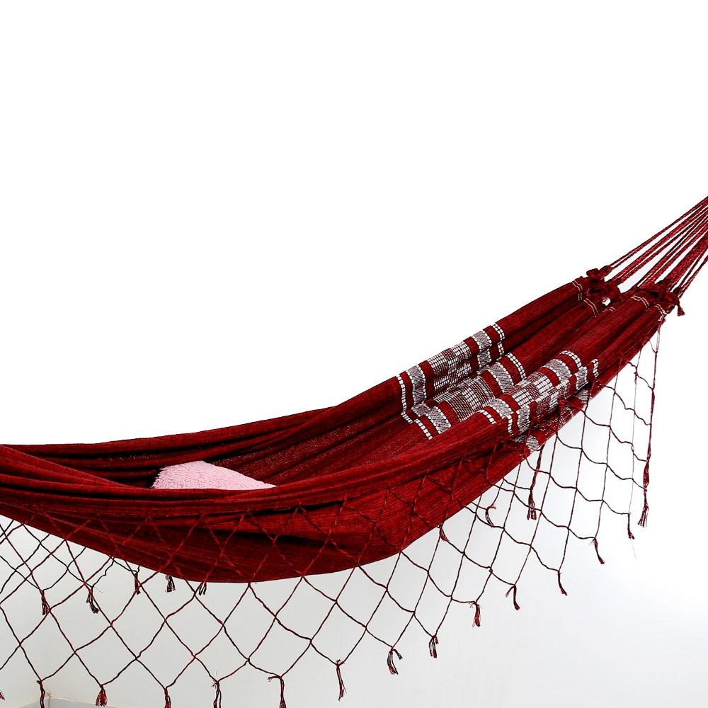Rede de Dormir Pernambucana Vermelha Escura