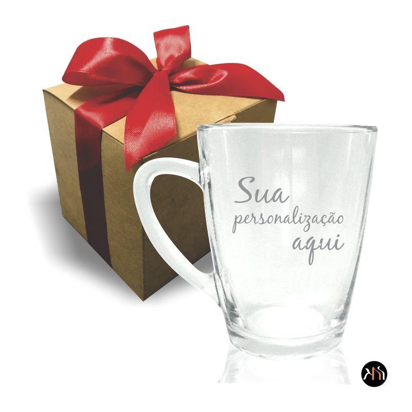 Xícara de vidro Personalizada