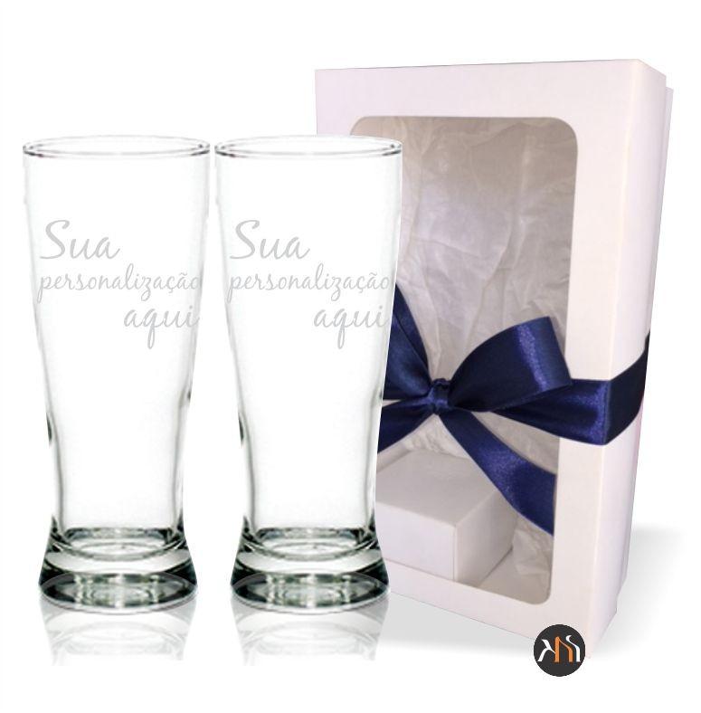 Conjunto de 2 copos vidro 300ml p/ cerveja Personalizados (2.32830DH)
