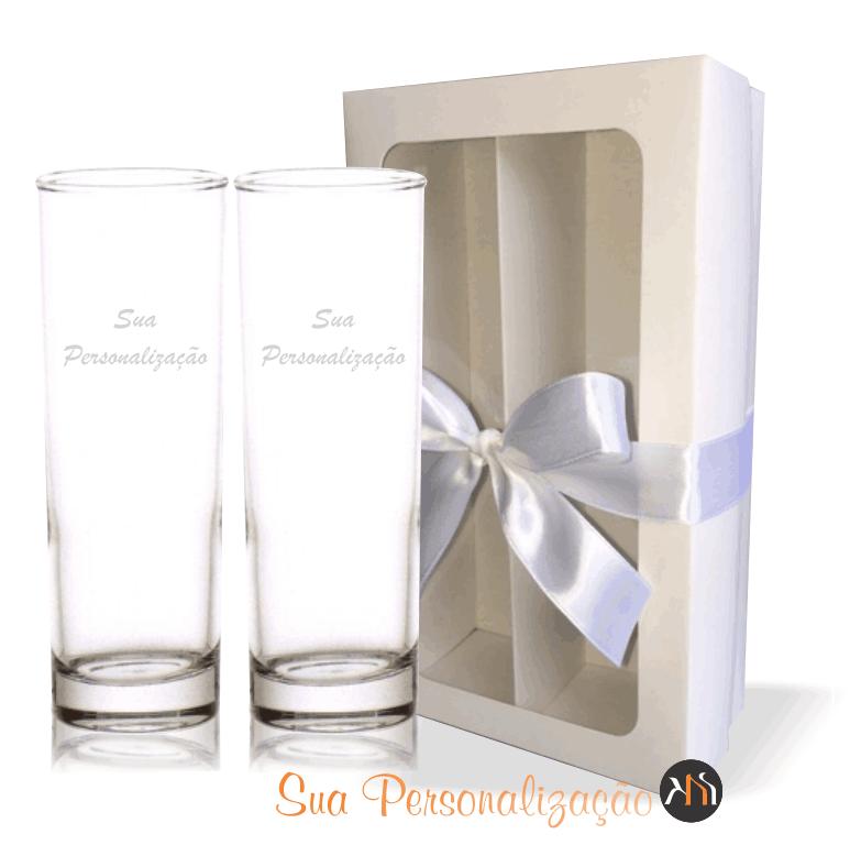 Conjunto de 2 copos vidro p/ água Personalizados (2.61530H)