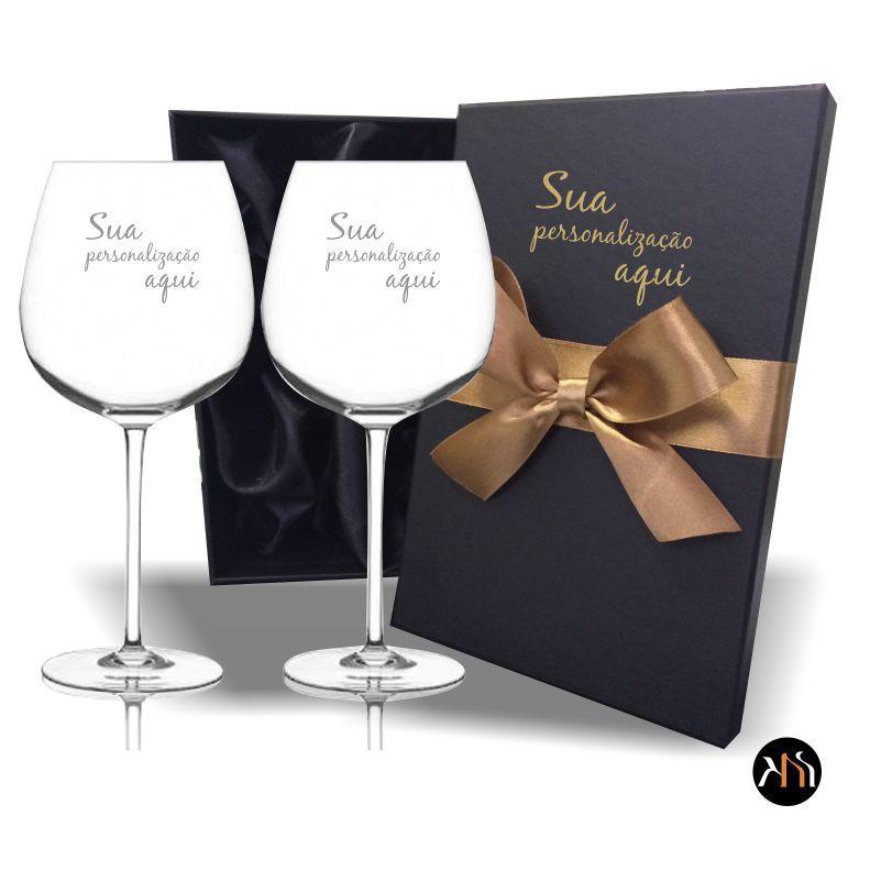 Conjunto de 2 taças de cristal para vinho 650ml