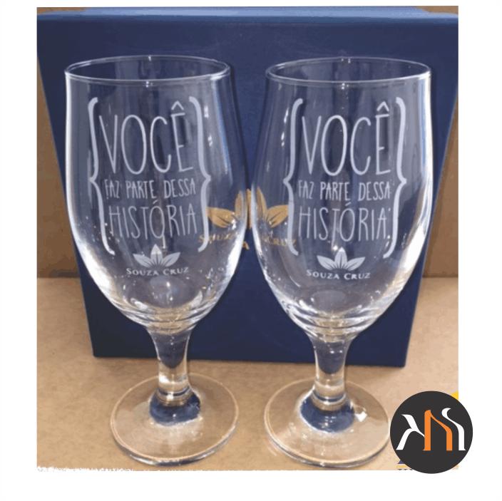 Conjunto de 2 taças vidro p/ cerveja Personalizadas (BC7728P)