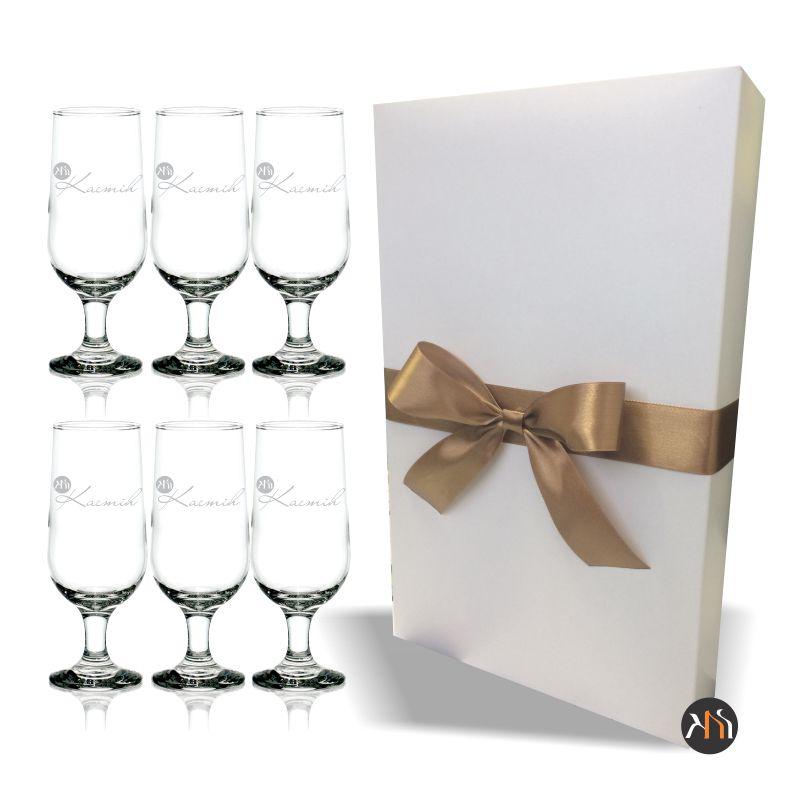 Conjunto de 6 taças de vidro p/ cerveja personalizadas (6.7732H)