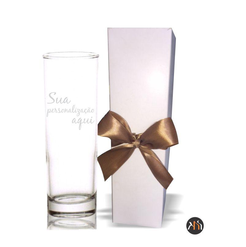 Copo de vidro p/ água Personalizado