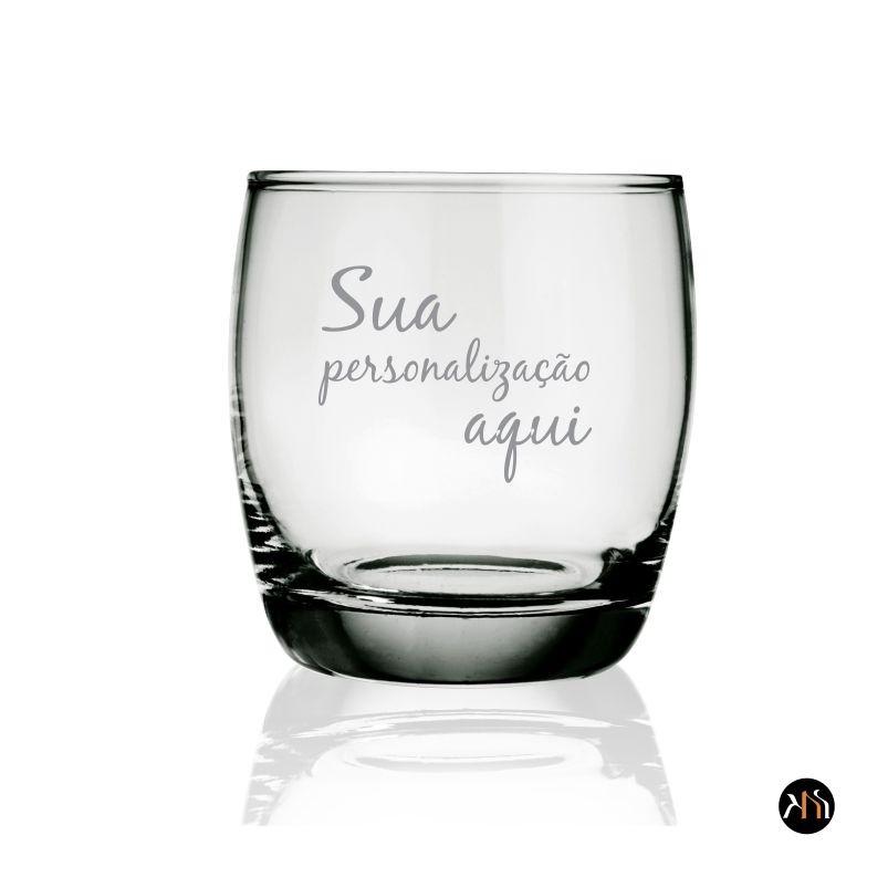Copo de vidro p/ whisky personalizado (7529)