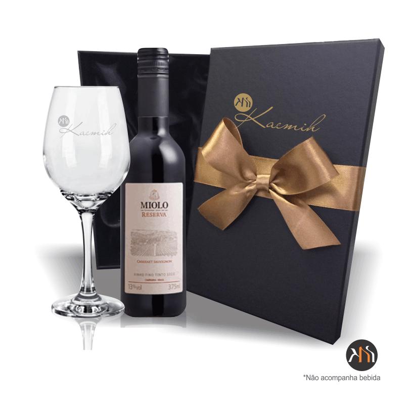 Kit  1 Taça vidro 385ml p/ vinho Personalizada