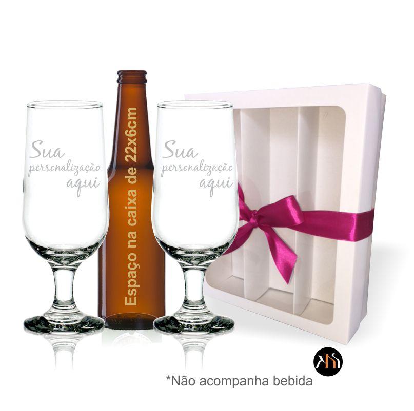 Kit 2 taças vidro p/ cerveja Personalizadas (2.7732TH)