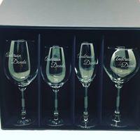 Kit 4 taças de cristal para Vinho (kitwinecristal)