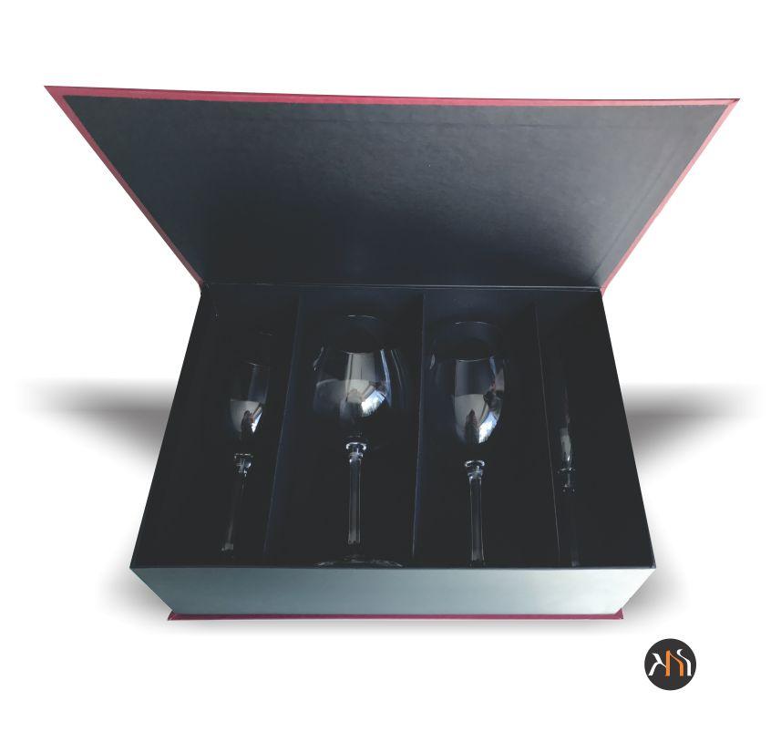 Kit 4 Taças de Vidro para Vinho Personalizadas (kitwinevidro)