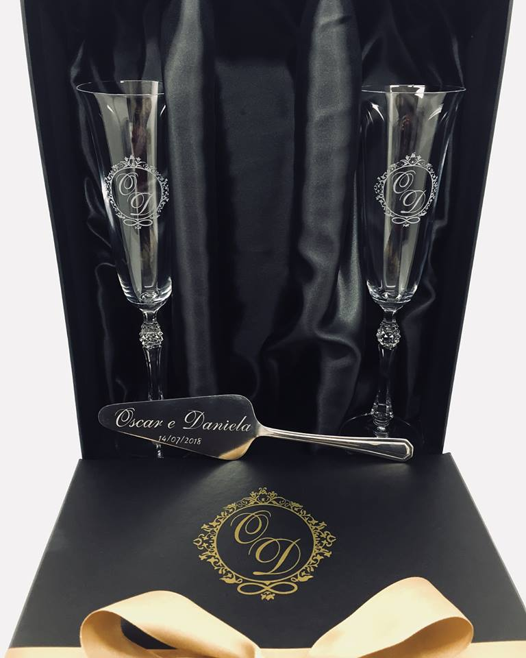 Kit Parus Luxo - Taças + Espátula + Embalagem Personalizadas