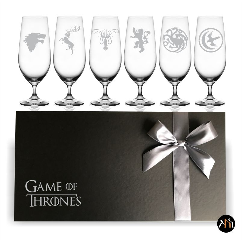 Kit Taças de Cristal para cerveja Game Of Thrones