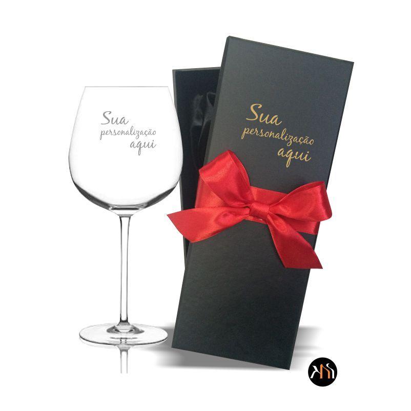 Taça Cristal para vinho 650ml personalizada