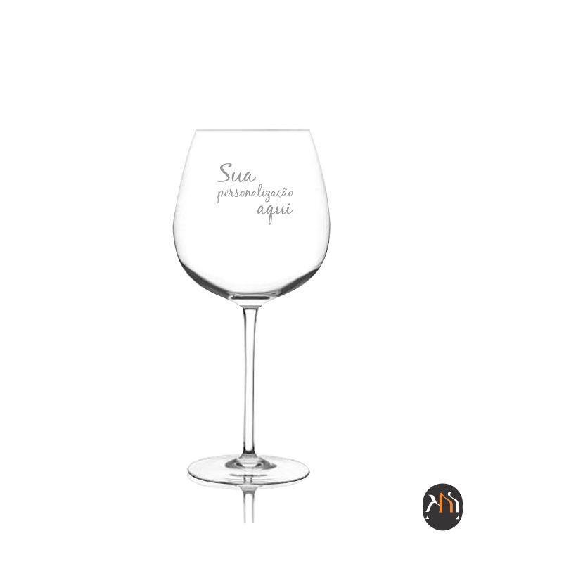 Taça de cristal 650ml para vinho personalizada