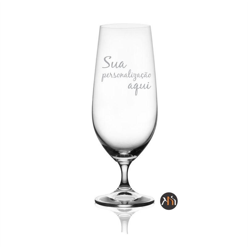 Taça de cristal p/ cerveja 380ml personalizada (57311)