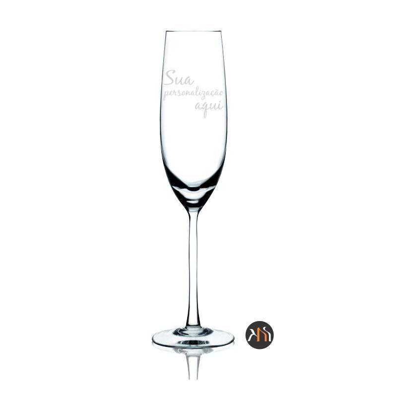 Taça Gastro Cristal para espumante personalizada