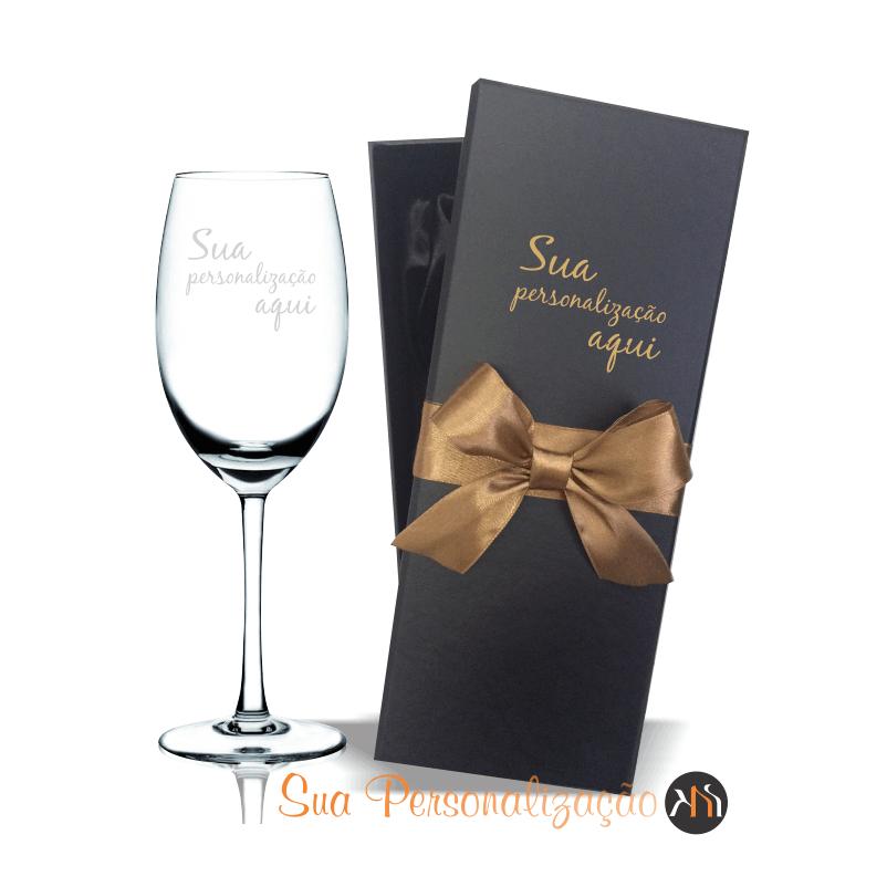 Taça de cristal p/ vinho 350ml Personalizada