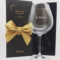 Taça de cristal para vinho 650ml personalizada