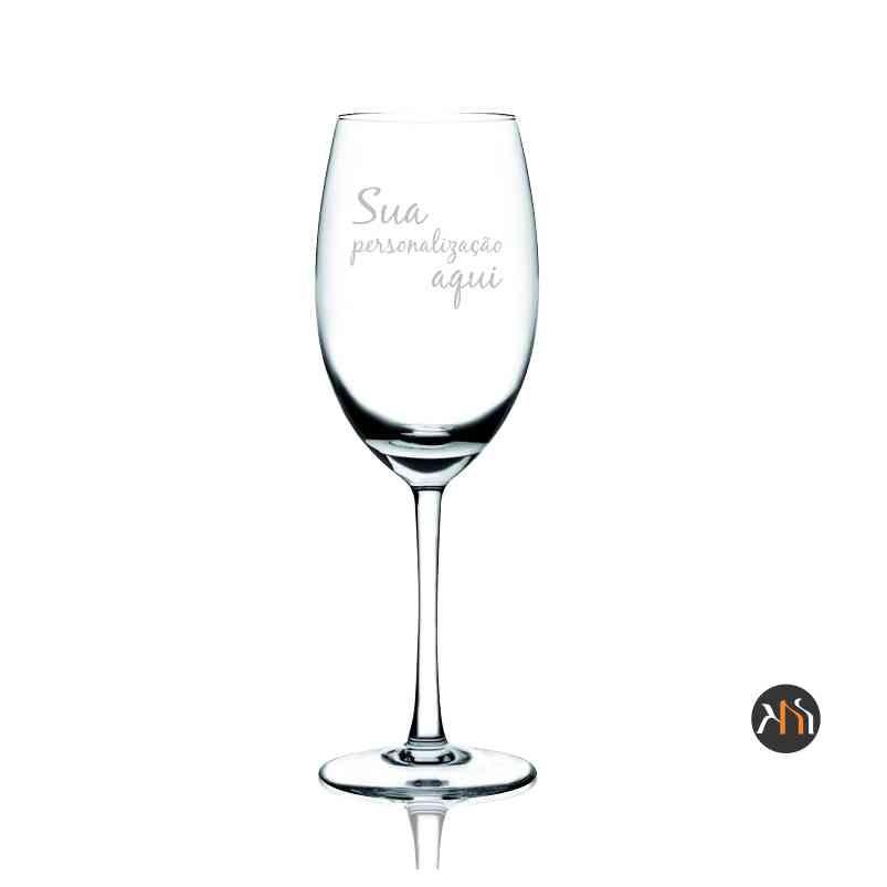 Taça de cristal 350ml para vinho personalizada (56112)
