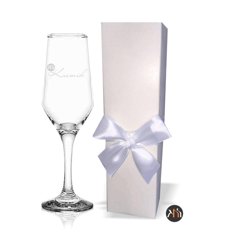 Taça Bistro vidro para espumante Personalizada caixa duplex