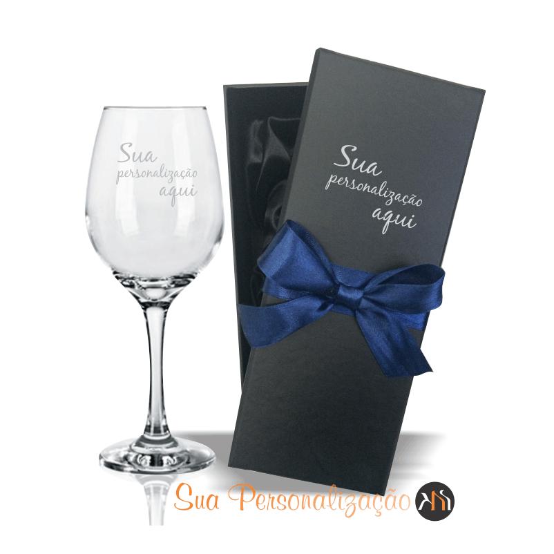 Taça de vidro 385ml p/ vinho Personalizada