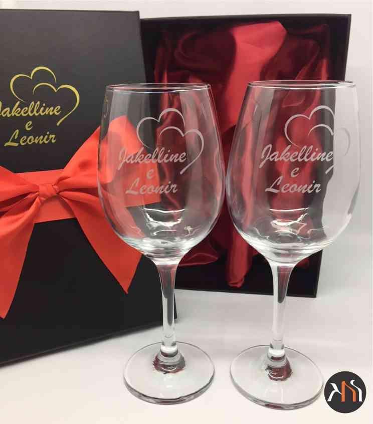 Taças para vinho em vidro Casamento
